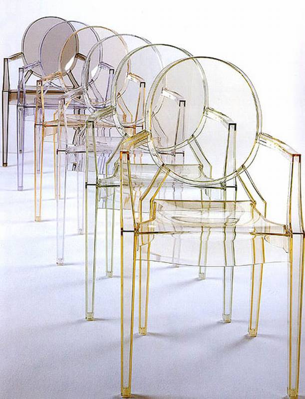 Louis Ghost from Kartell designed by Philippe Starck.