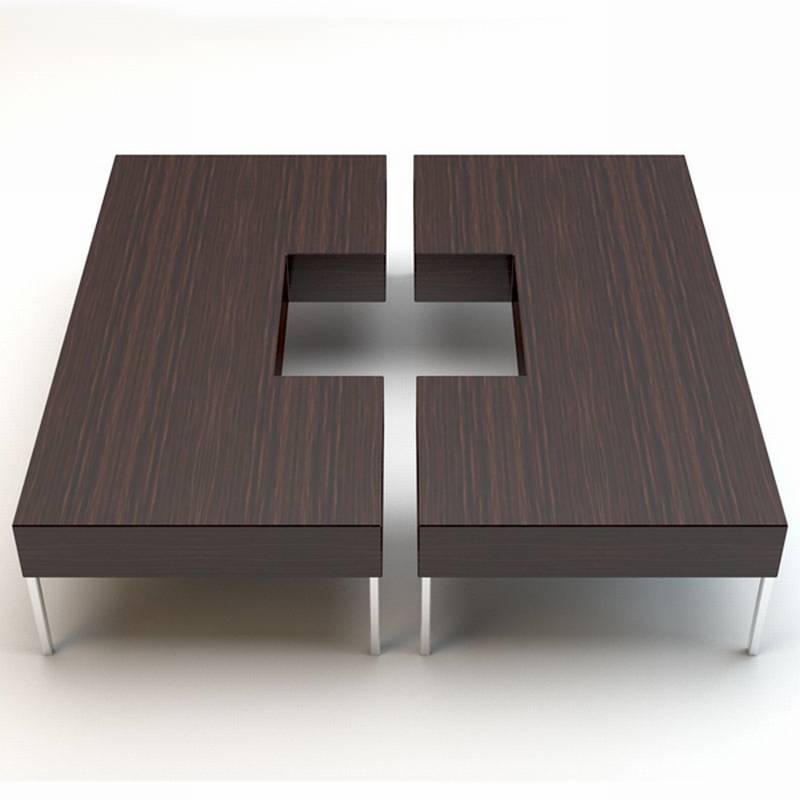 Porada Puzzle Coffee Table Cocktail Table Wooden Living Room Furniture Ultra Modern