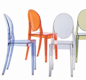 Kartell victoria ghost plastic chair dining room for Kartell plastic chair