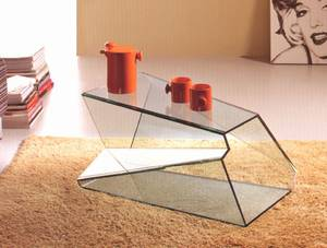 Dekon 1 by Ultra Modern. Glass, Coffee Tables, Living Room