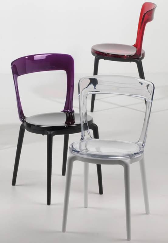 allkit luna c plastic chair dining room furniture ultra modern