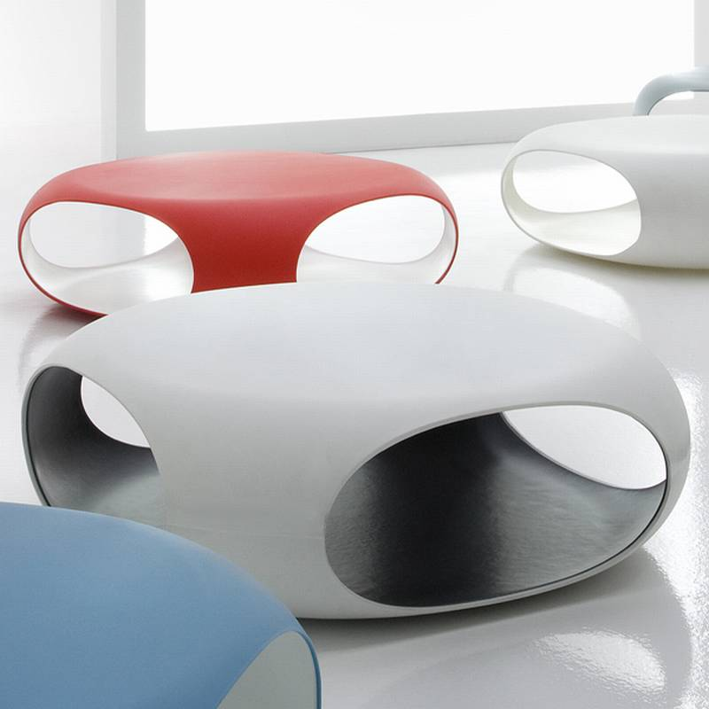 Bonaldo Pebble Plastic Coffee Table Cocktail Table Living