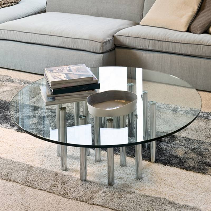 Bonaldo Mille Coffee Coffee Table Cocktail Table Glass Living Room Furniture Mille