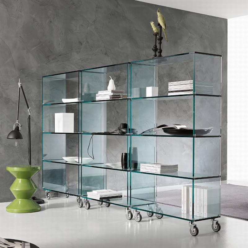 Glass Shelf Bookcase