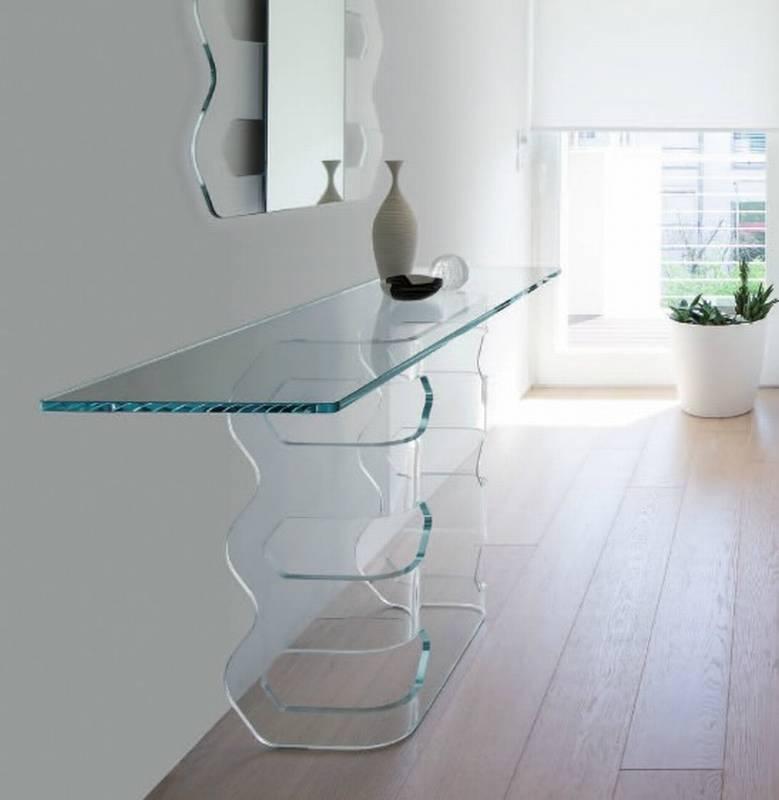 Beautiful Arnia By Antonello Italia With Glass Console Table.