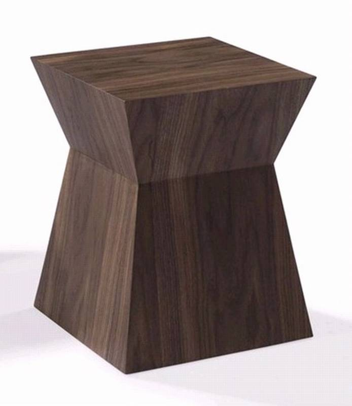 Block Wood Side Table ~ Block end table wooden living room furniture ultra