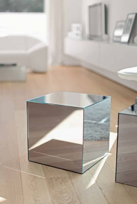 Box Coffee Tables Glass Living Room Ultra Modern