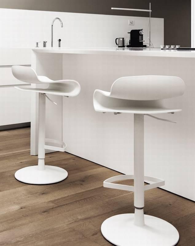 Kristalia BCN Height Adjustable Plastic Stools Kitchen Ultra Modern