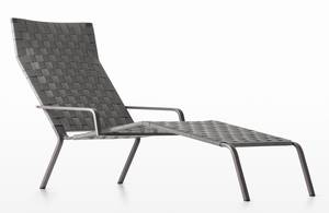 Kristalia rest chaise longue recliner outdoors metal for Chaises longues tressees