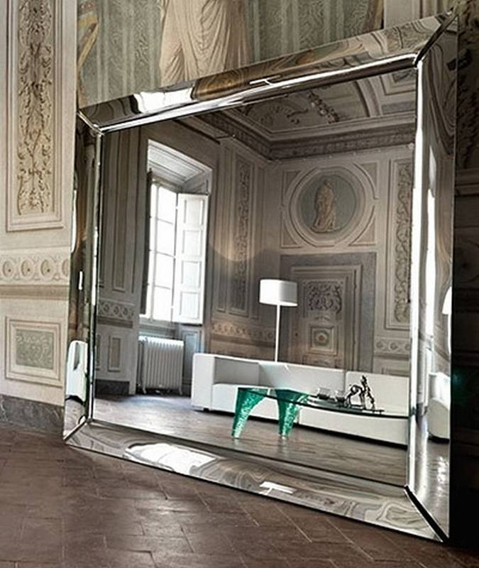 Fiam caadre mirrors glass ultra modern for Miroir caadre philippe starck