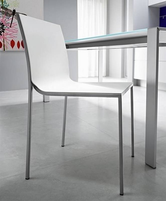 Fiam ultra chairs leather dining room ultra modern for Ultra modern dining room sets