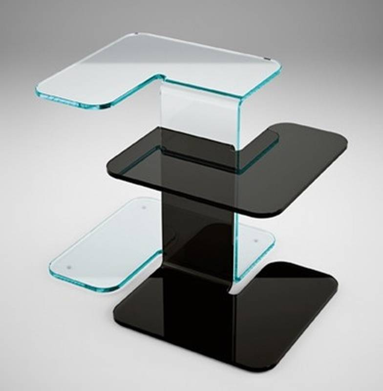 glass end tables for living room. Twin by Fiam  End Tables Glass Living Room Ultra Modern