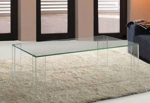 viva modern ghost extra clear | coffee tables | rectangular top