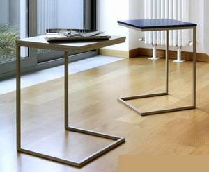 Doimo Basic Slim Side Table | End Table | Living Room Furniture | Metal  Ultra Modern