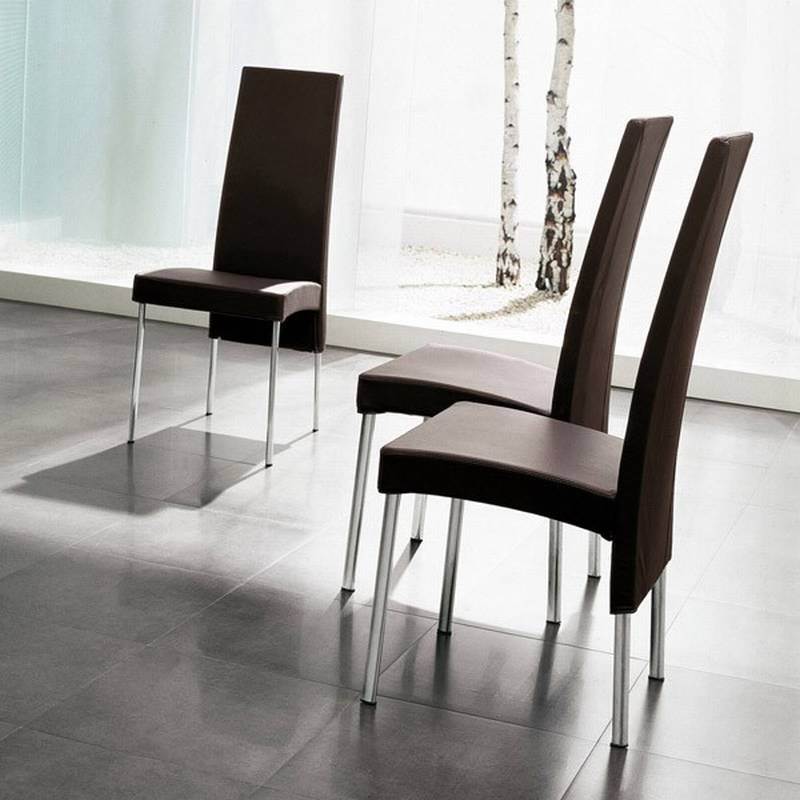 casa charonne chairs leather fabric dining room ultra modern
