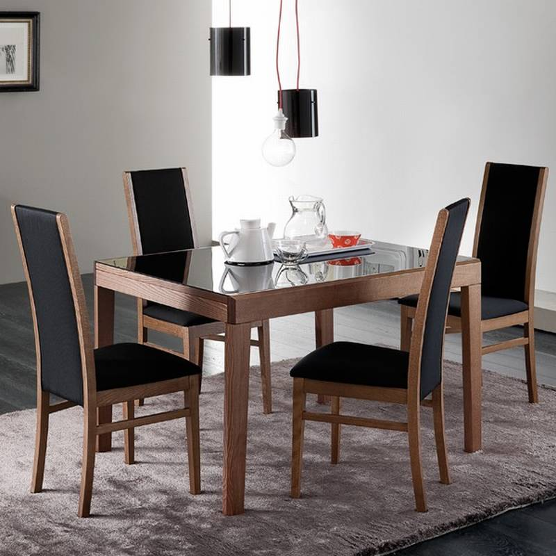 Domitalia asso 120 dining tables glass dining room for 120 inch dining room table