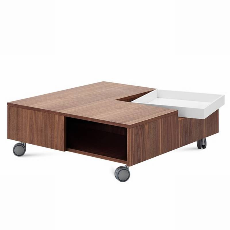 Domitalia Roy Coffee Tables Square Top Wooden Living Room Ultra Modern