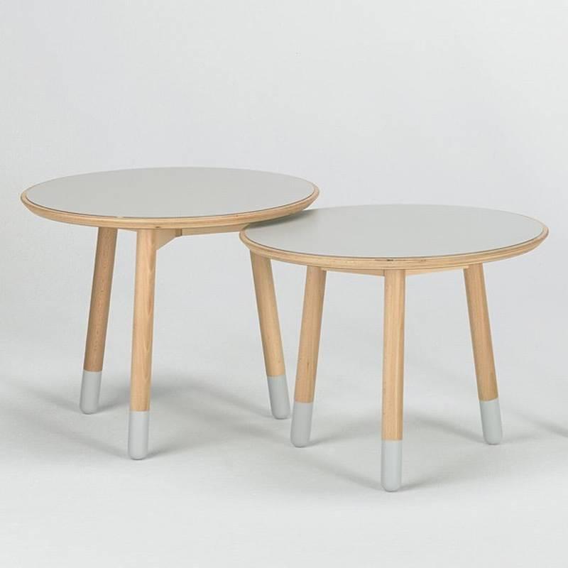 Valsecchi stick double coffee table plastic coffee for Double round coffee table