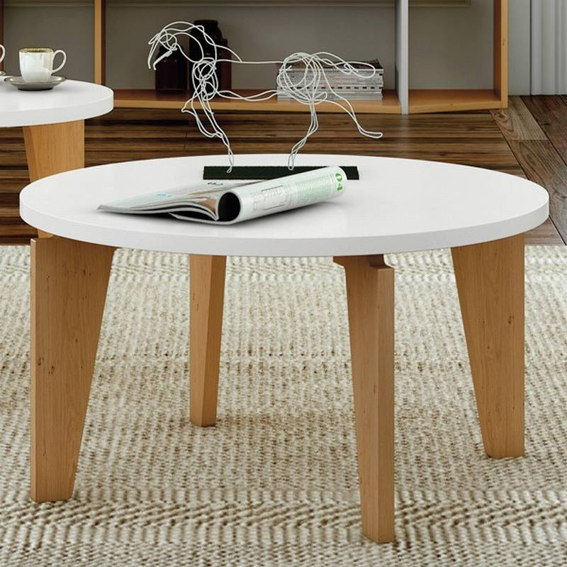 Temahome Magnolia 80 Coffee Tables Round Top Wooden Living Room Ultra Modern