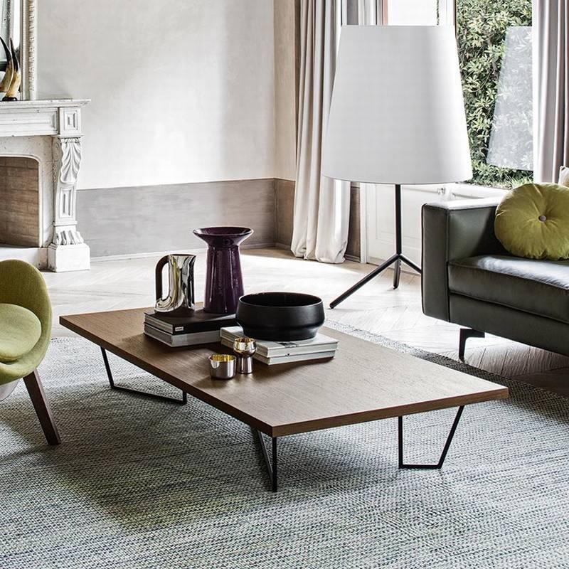 Calligaris Low T CS 5086 Coffee Tables Rectangular Top Wooden Living