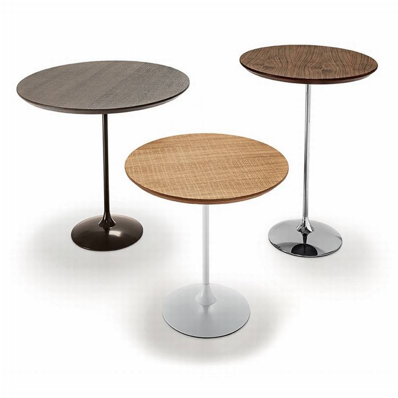 Sovet Tulip Wood Coffee Tables End Tables Bar Table Round Top Tulip Wood Ultra Modern