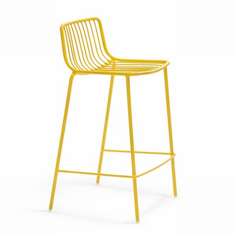 Pedrali nolita stool stools outdoors kitchen metal - Chaise haute aluminium ...
