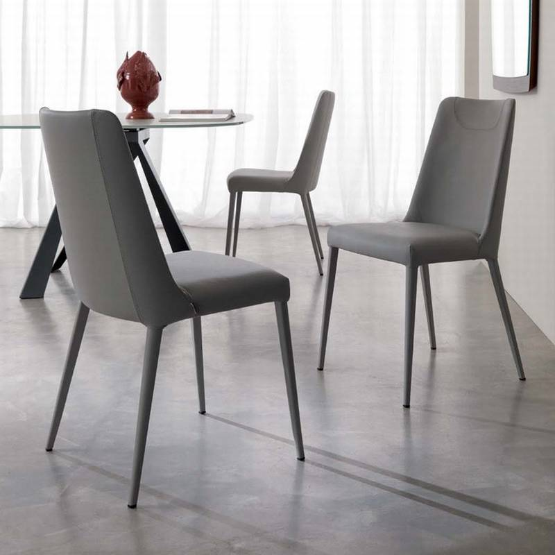 ozzio sophia s316 chairs leather dining room ultra modern