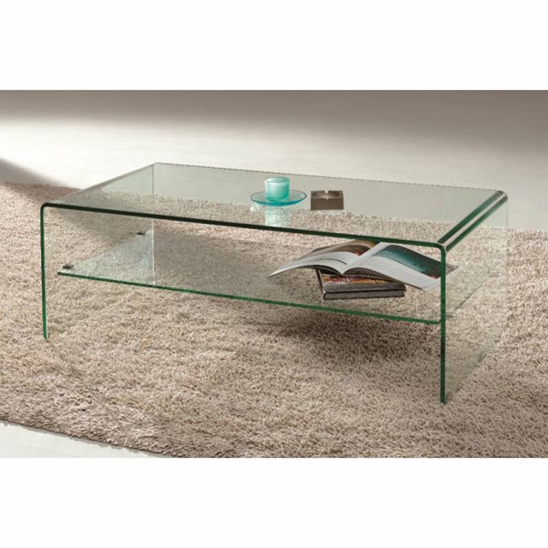 Arch (Waterfall) Coffee Table With Shelf By Viva Modern