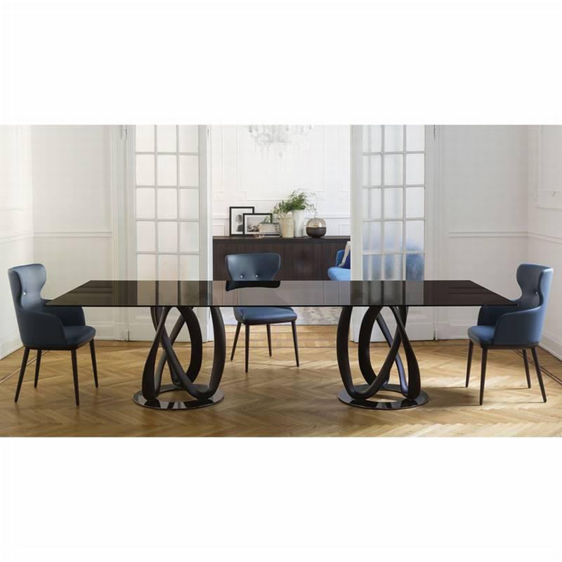 Porada Infinity | Dining Table | Glass | Dining Room Furniture Ultra Modern