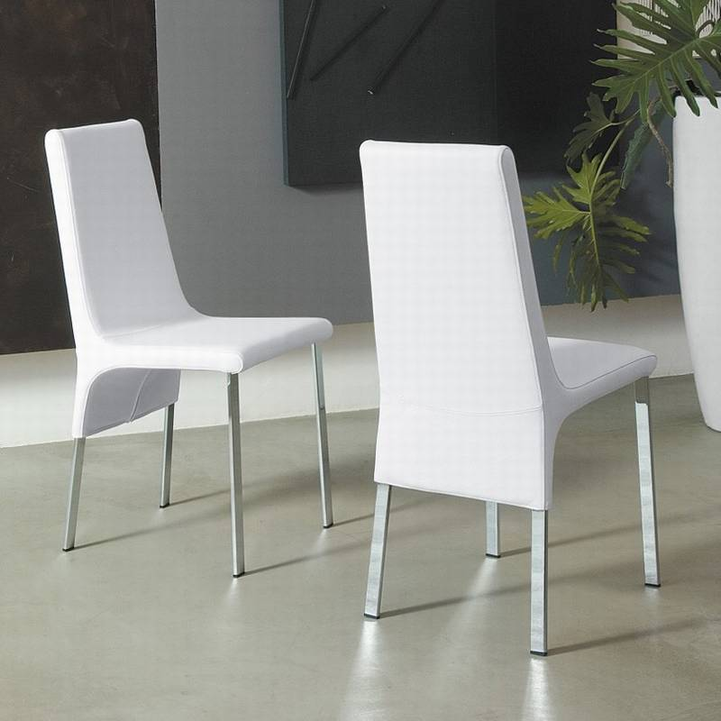 italia paola chairs leather fabric dining room ultra modern