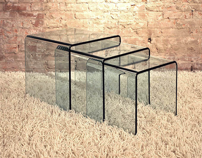 Viva modern arch small table nest end table bent glass curved viva modern arch small table nest end table bent glass curved glass coffee table contemporary furniture from ultra modern watchthetrailerfo