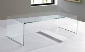 Arch (Waterfall) Coffee Table - Extra Clear Glass by Viva Modern