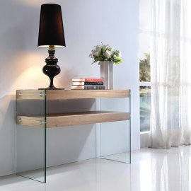 Alfa Console with Ash Shelf by Viva Modern