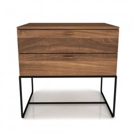 Linea Nightstand with Steel Base by Huppe