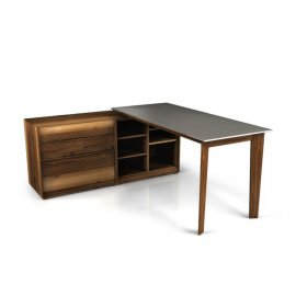Swan Desk Configuration 1 by Huppe