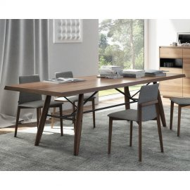 Connection Dining Table (Wood Top) by Huppe