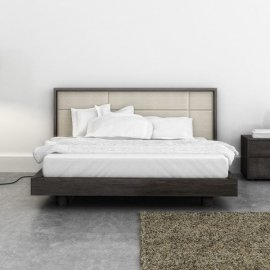 Cubic Bed (Upholstered Headboard) by Huppe