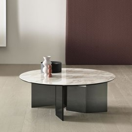 Metropolis Low Table Ceramic by Tonelli