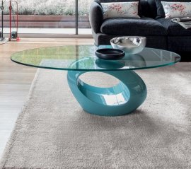 Dubai Glass Marble Coffee Table by Tonin Casa