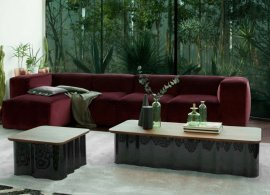 Drape Wood and Glass Coffee Table by Tonin Casa