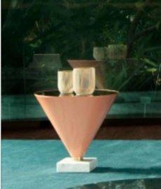 Flute Glass Side Table by Tonin Casa