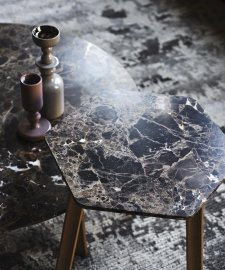 Ruler Marble Coffee Table by Tacchini