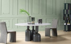 Cop Round Dining Table by Bonaldo