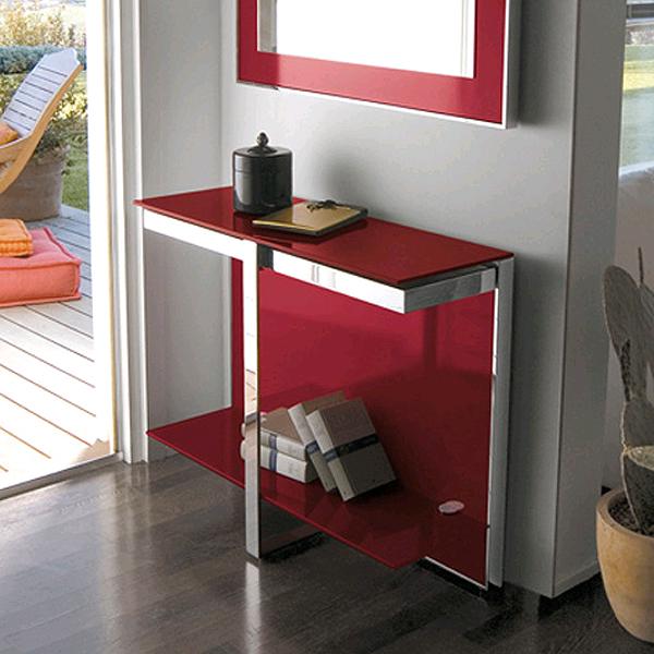 Unico Italia Modern Enigma Glass Coffee Table With Shelf: Antonello Italia Manta Console Table