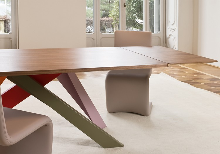 Bonaldo Big Table Extending Dining Table | Wooden | Glass ...