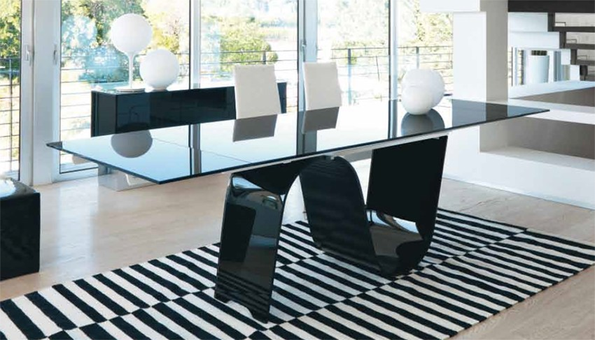 Unico Italia Infinity Extendable Dining Tables Glass