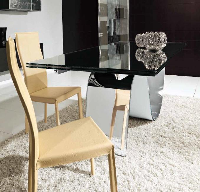 Unico Italia Modern Enigma Glass Coffee Table With Shelf: Unico Italia Infinity Extendable Dining Tables
