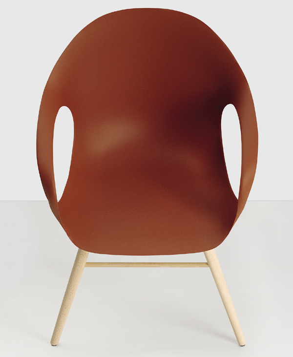 Kristalia Elephant On Wooden Base Plastic Chairs