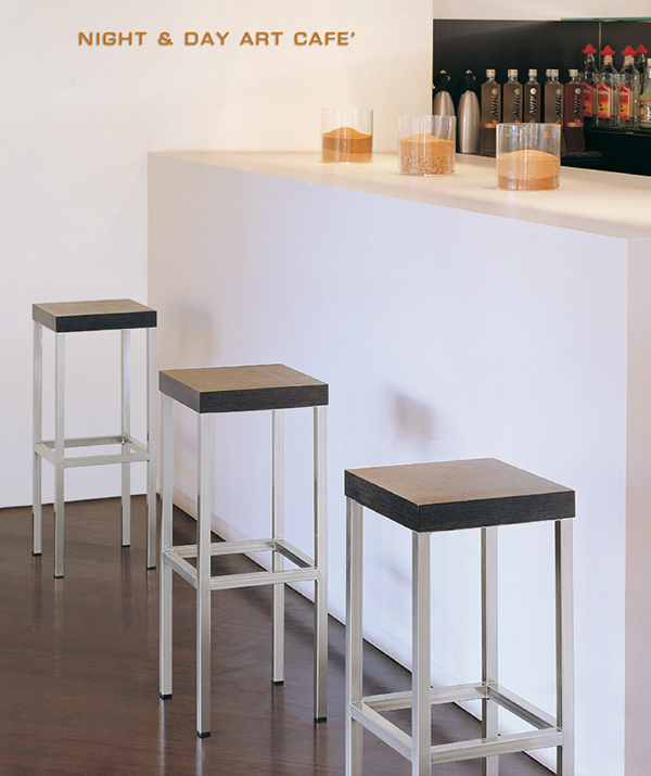 Pedrali Cube Wood Stools Wooden Kitchen Contemporary
