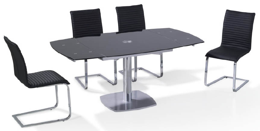 Viva Modern Archimede Chairs Leather Dining Room